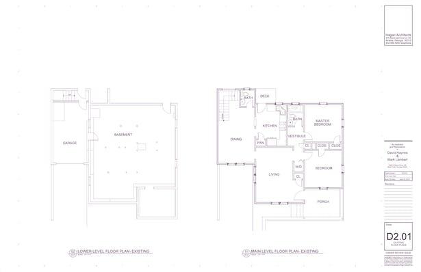 Floor Plans: Existing
