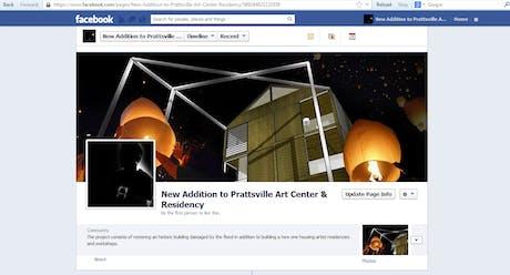 Prattsville Art Center project on Facebook: https://www.facebook.com/prattsvilleartcenteraddition