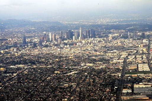 New housing construction can't keep up with rising rents in Los Angeles, creating a massive housing shortage. Image via wikimedia.org