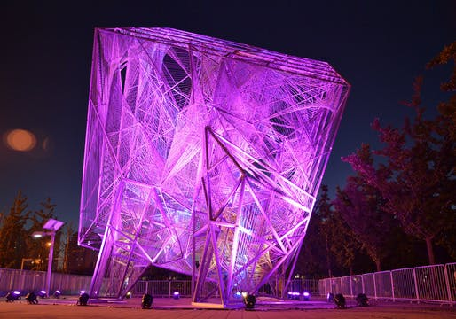 Oyler Wu Collaborative's 'The Cube' at the 2013 Beijing Biennale. Photo: Jason Wheeler.
