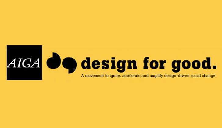 """2011 Design Milestone: AIGA's """"Design for Good"""" campaign"""