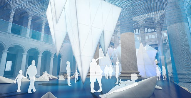 ICEBERGS. Rendering by James Corner Field Operations, courtesy National Building Museum