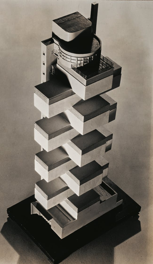 Howe and Lescaze's proposal for MoMA. Image via 'Never Built New York'