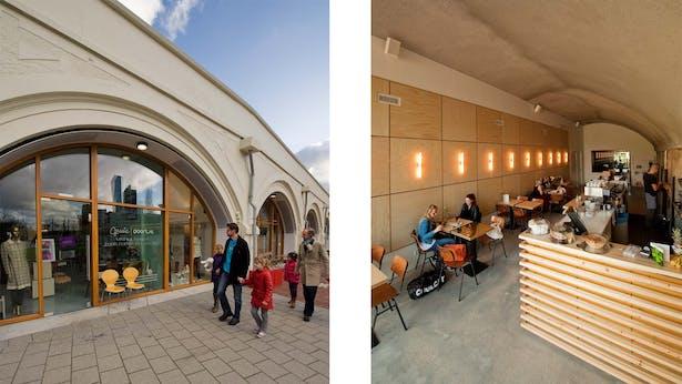facade and interior