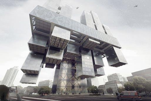 Transpital Skyscraper - Honorable Mention 2016 Skyscraper Competition. Chen Linag, Jia Tongyu, Sun Bo, Wang Qun, Zhang Kai, Choi Minhye