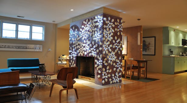 Fireplace surround by PROJECTiONE.