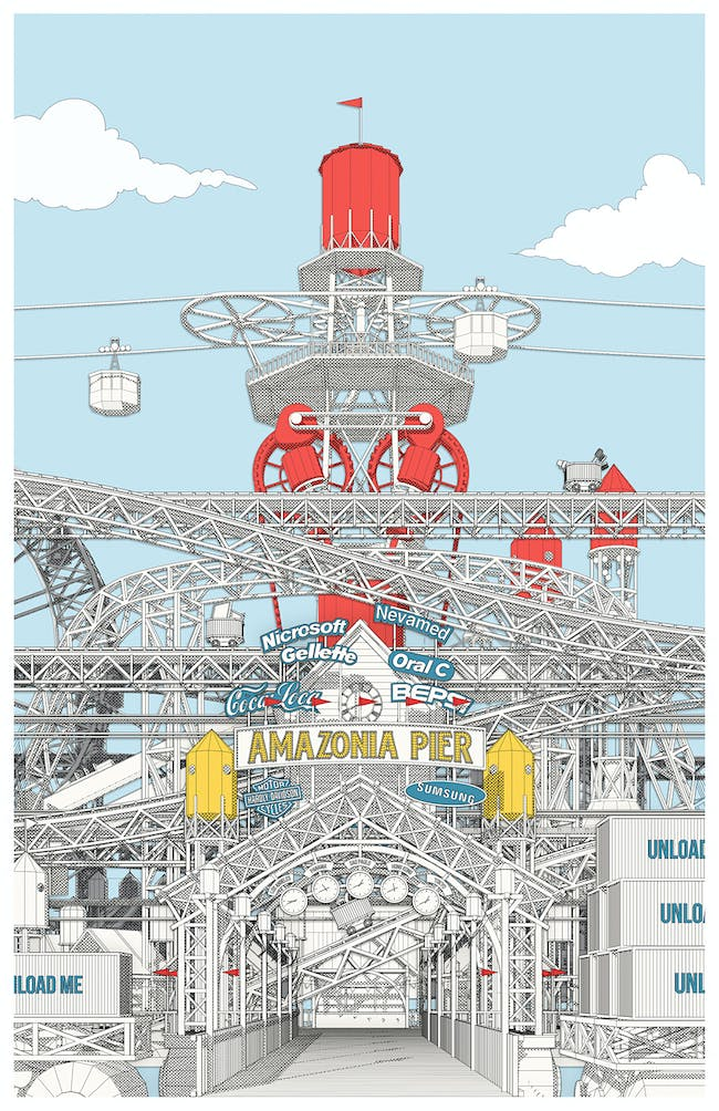 "HONORABLE MENTION: Julien Nolin for ""Amazonia Pier: Manufacturing an Architecture of Pleasure"""