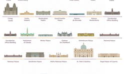 35 of the world's palaces gathered into one quaint, interactive infographic