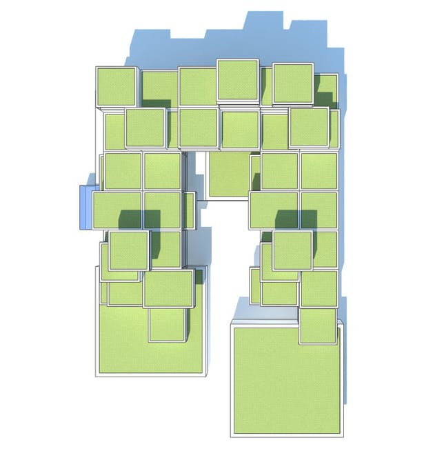 Proposed building bird view