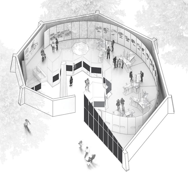 Rendering of Arctic Adaptations: Nunavut at 15 in the Canadian Pavilion. Image courtesy of Lateral Office