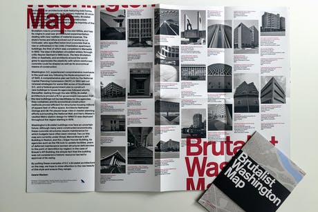 Just released with Blue Crow Media: Brutalist Washington Map available at bit.ly/BrutalistDCMap