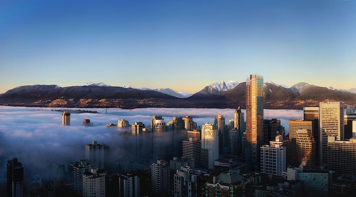 The Shangri-La Hotel in Vancouver, designed by James KM Cheng Architects. Image via Westbank