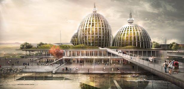 Bio Remediation Domes - Landmark - University Island Poveglia YAC