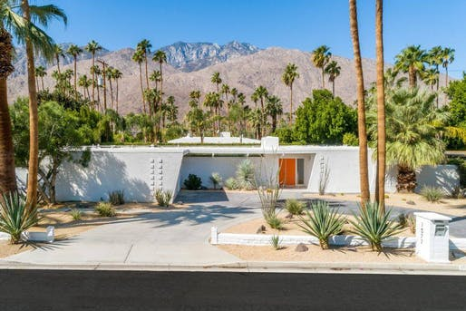 John & Bessie Macy Residence (1959) designed by architect Hugh M. Kaptur. Photo via Palm Springs Modernism Week/Facebook.