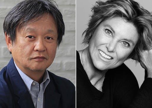 2018 Isamu Noguchi Award recipients: Naoto Fukasawa and Edwina von Gal. Image courtesy Isamu Noguchi Museum.