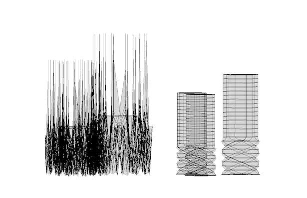 Wireframe elevation