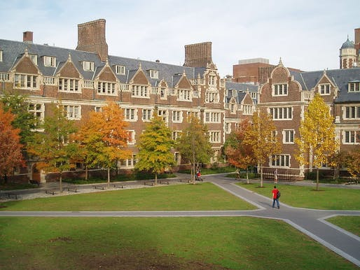According to stats, the number of international students heading to the US for an education is going down. Image: the Quad at UPenn, via Wikimedia