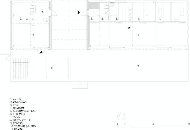 House plan. Image courtesy of Tham & Videgård Arkitekter