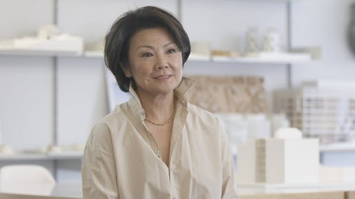 Toshiko Mori. Screenshot via BottegaVeneta/YouTube.