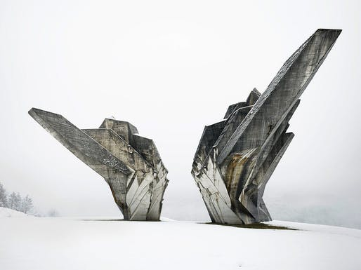Miodrag Živković, Monument to the Battle of Sutjeska, 1965-71, Tjentište, Bosnia and Herzegovina. View of the western exposure. Photo: Valentin Jeck, commissioned by The Museum of Modern Art, New York, 2017.