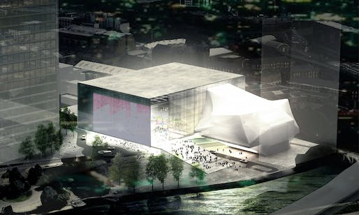 The proposed £110m Factory arts centre in Manchester. Photograph: Bolton Quinn, via theguardian.com.