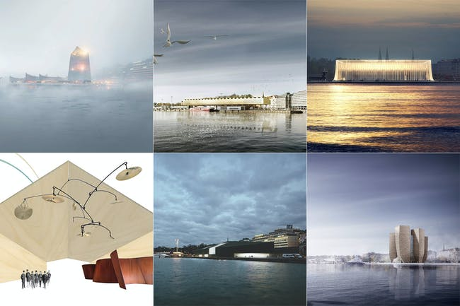 The six finalists of the Guggenheim Helsinki competition