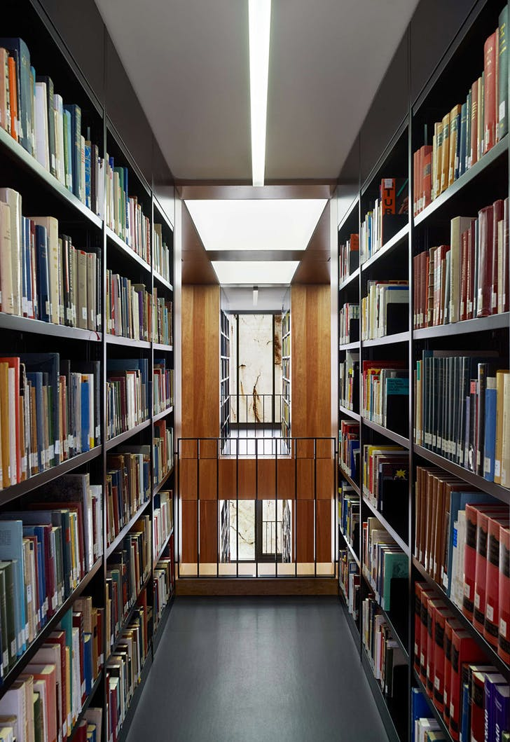 View from between the library shelves (Photo: Stefan Müller)