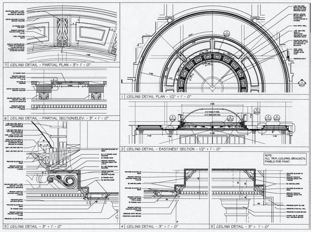 Personally designed and developed the construction details for the installation of the glass dome of the residence entry, immediately followed by the realization on site of the project.