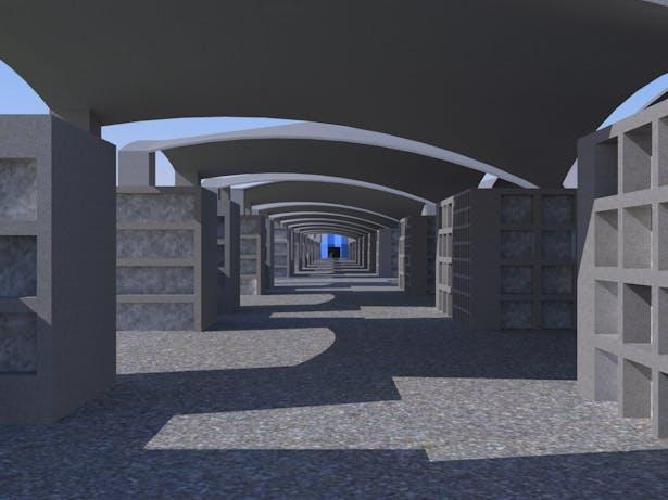 Main walkway through Mausoleum