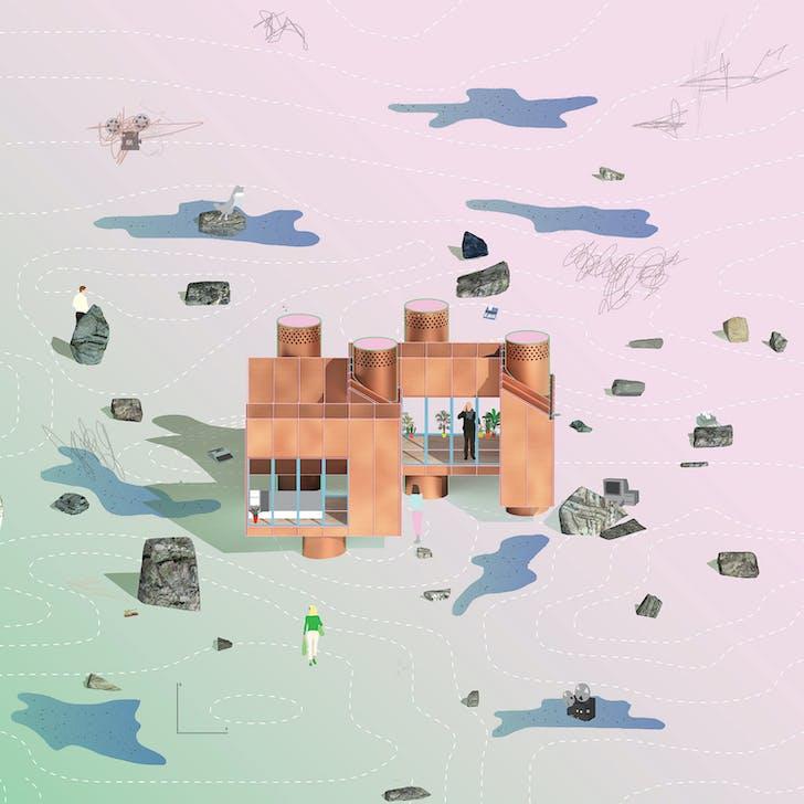 MOS Architects' illustration of 'House No. 11'. Image courtesy of MOS Architect
