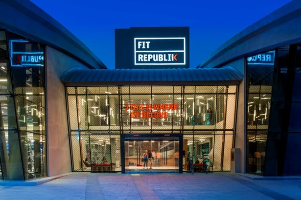 Fit Republik, Dubai, by Aedas Interiors - Entrance