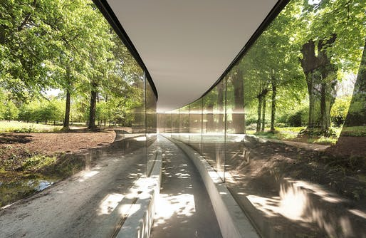 Photograph of Lecture Hall in the Park. ©junya.ishigami+associates