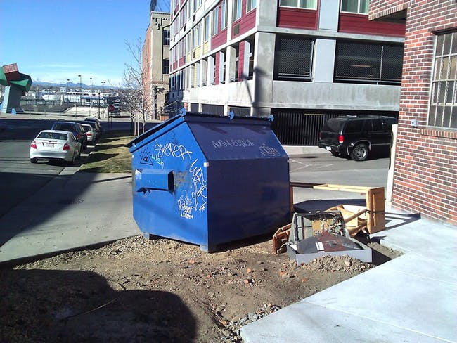 (2) dumpsters are ugly