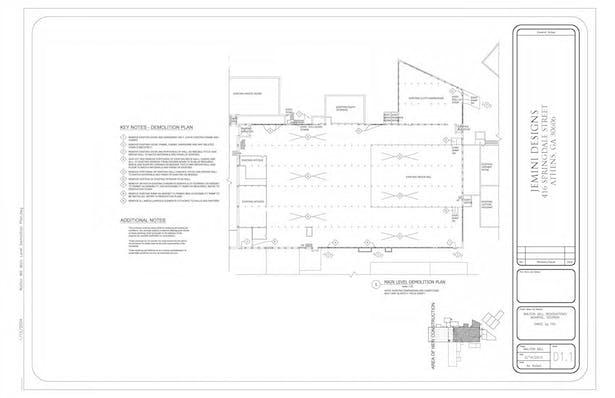 Main Level Demolition Plan