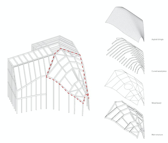 Clover House - Structural Diagram. Image courtesy of MAD.