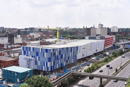 Redrock Stockport by BDP, located in a community south of Manchester. Image: PlaceNorthWest.