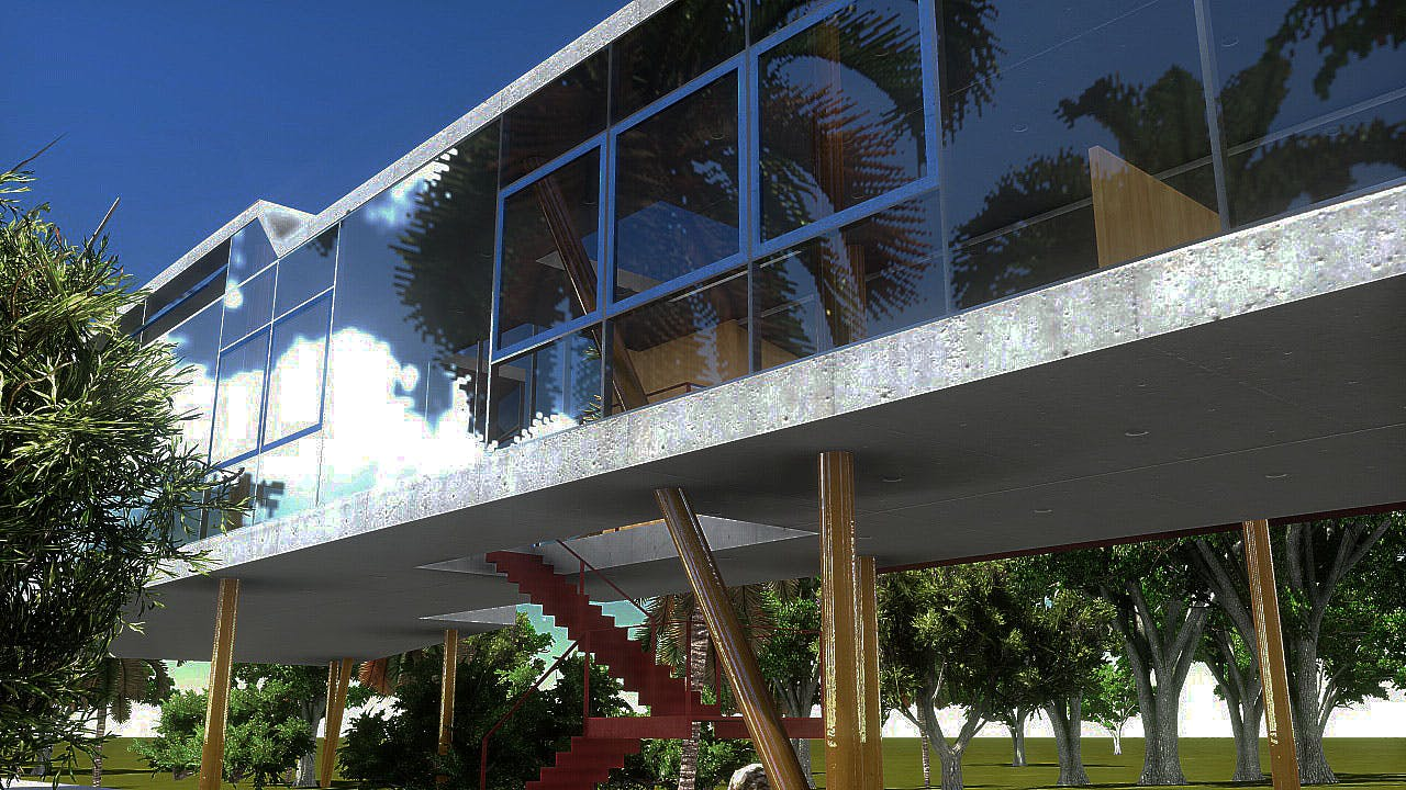 Neo Modernist House Real Time Renders Alexandre