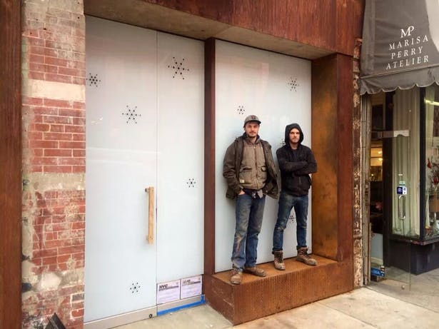 Newly finished storefront expansion with our fabricators Brett & Kevin