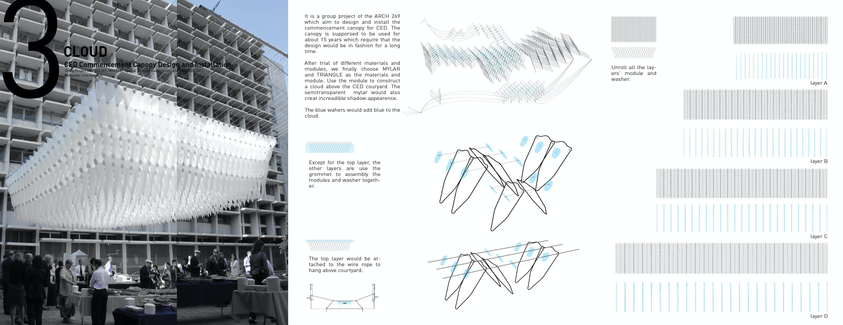 1 more images ?  sc 1 st  Archinect & Cloud---CED Commencement Canopy Design and Installation | wenfei ...