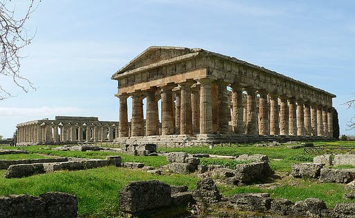 One of the preserved ancient Greek temples in Paestum. Photo: Oliver Bonjoch.
