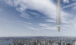 A tower designed to hang from an asteroid in Earth's orbit