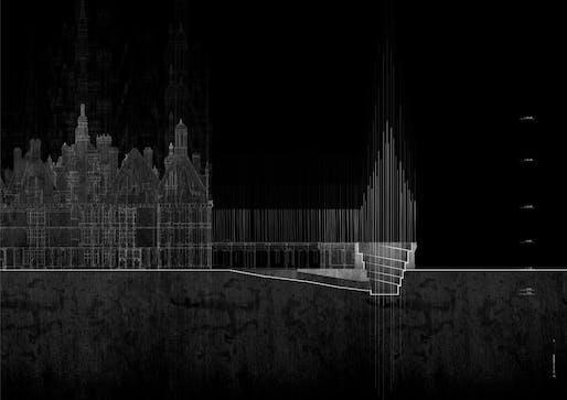 La Escuela de Arquitectura de la Universidad Anáhuac de México (Mexico) for the project Evanescent thresholds of the Inachevé (Les seuils évanescents de l'Inachevé)
