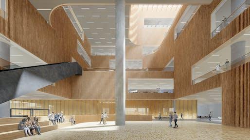 Lobby. Image: Schmidt Hammer Lassen Architects.