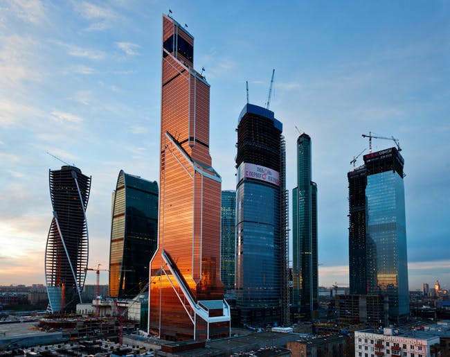 7. Mercury City (Moscow, Russia) by F. Williams, G.L. Sirota, M.M. Posokhin. Photo © Mercury Development.