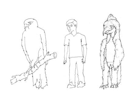 Art Buddies /// Hawk Costume
