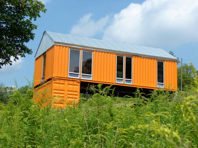 Container House in Livingston Manor, NY by Tim Steele Design