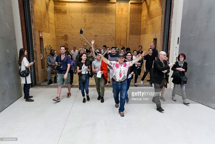 Image via Getty Images. I'm on the left with my back to the camera.