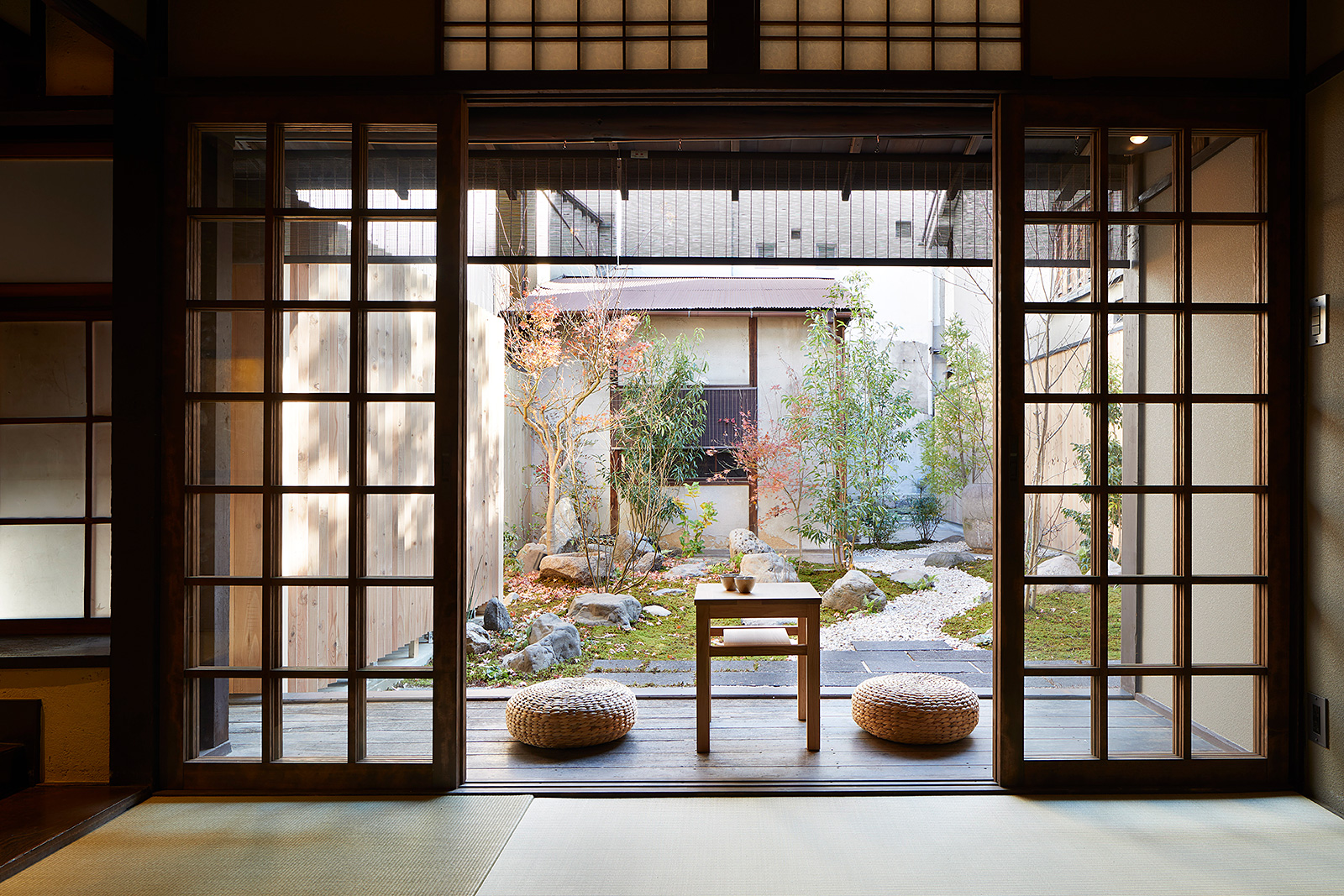 Blending Japanese traditional and modern architecture this Kyoto