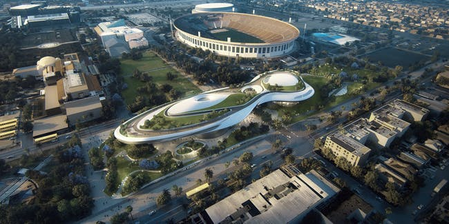 Exposition Park design by MAD. Image: Lucas Museum of Narrative Art