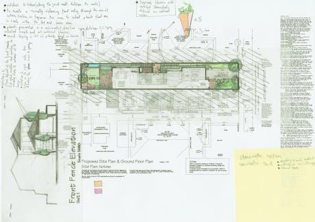 residential landscape design in Melbourn. sketch #1